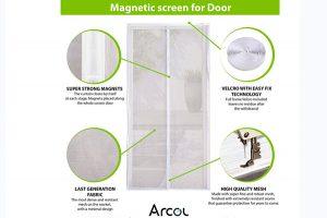 ARCOL Cortina Mosquitera Magnética Para Puertas