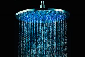 alcachofa de ducha RGB LED de luz de flash