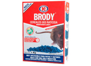 Raticida BRODY Control de plagas de Ratas y Ratones