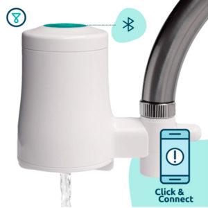 filtro de agua para grifo con función Bluetooth