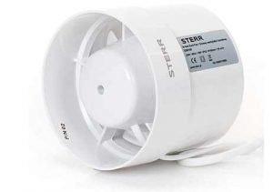 STERR – Extractor en línea con ventilador de conductos silenciosos 100 mm – IDM100