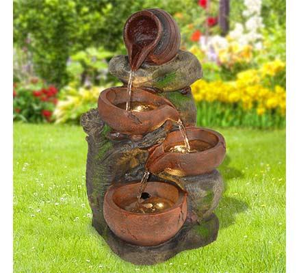 Fuente de agua decorativa jarras