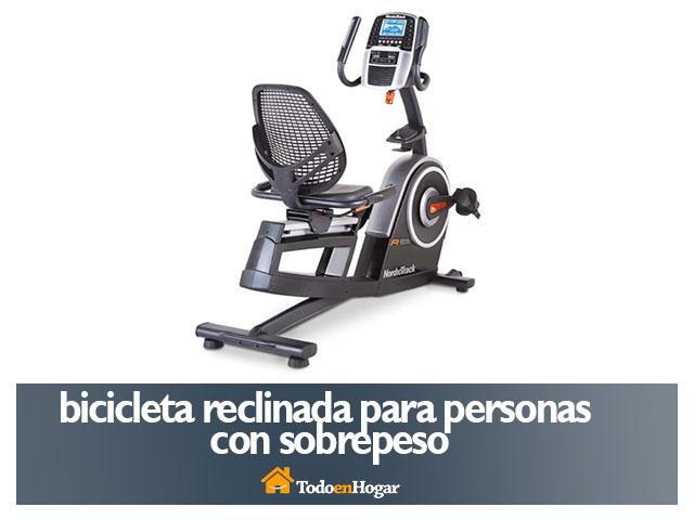 bicicleta reclinada para personas con sobrepeso