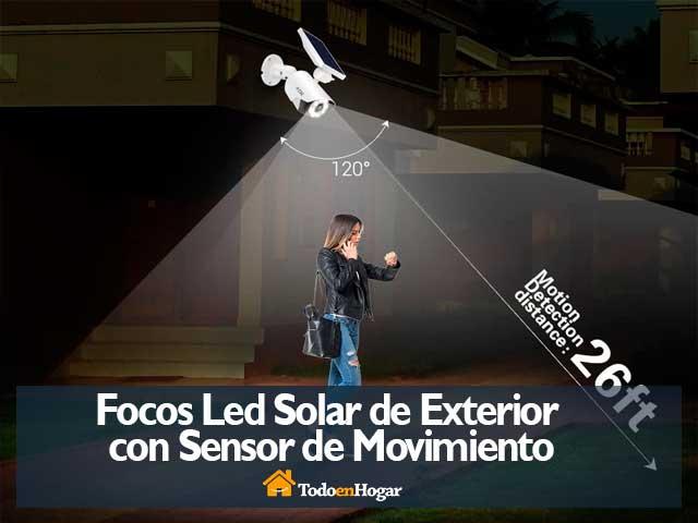 Focos Led Solar de Exterior con Sensor de Movimiento